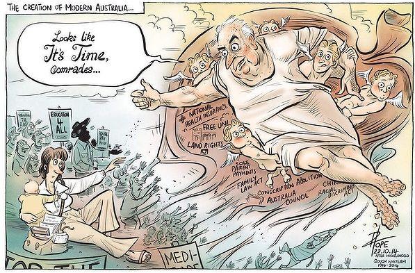 Gough Whitlam Remembrance Cartoon