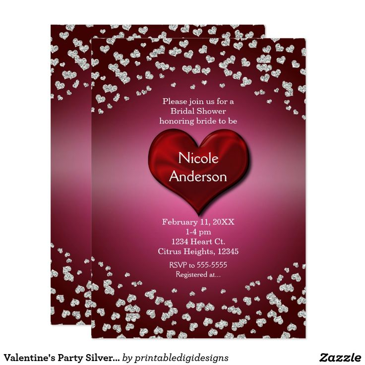 20 best Valentine\'s Day Party Event Invitations images on Pinterest ...