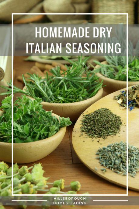 Easy DIY homemade dry Italian seasoning recipe.