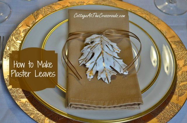 Find out how to make plaster leaves in this easy to follow tutorial