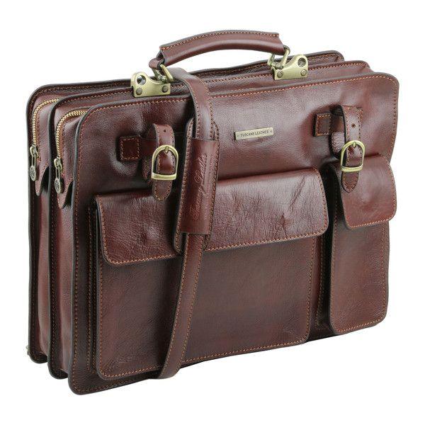 VENEZIA - Leather briefcase 2 compartments