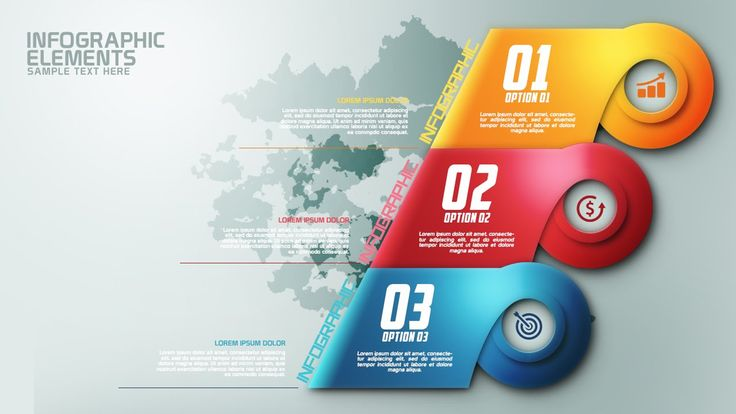 How To Create Modern Infographic Colorfull Options Banner In Photoshop