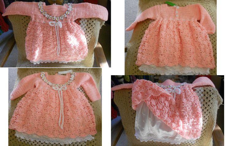 Hermoso vestido con enaguas para bebé de 6 meses aprox.