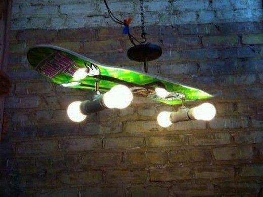 DIY Skateboard Ceiling Fan