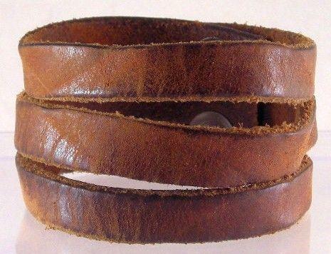 Bracelet Made From Vintage Leather Belt Love Pinterest Belts And Bracelets