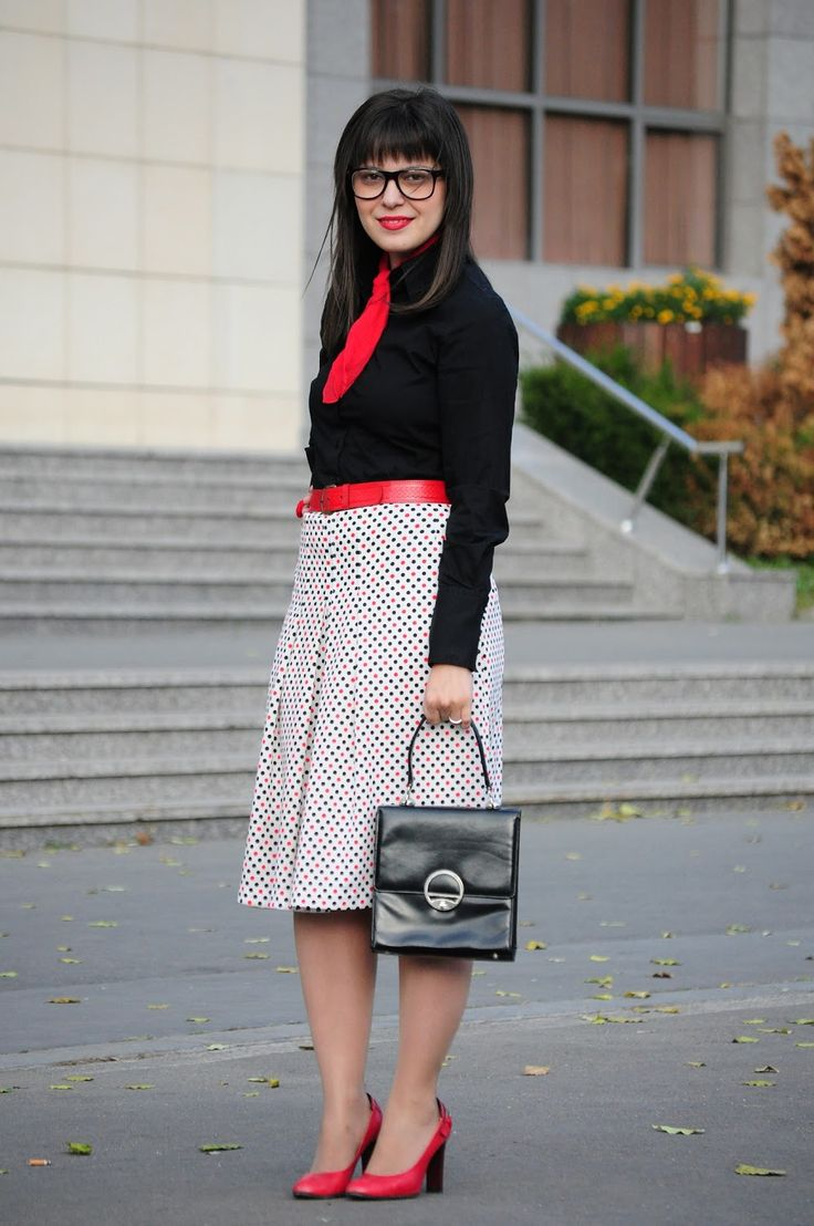 Dotty librarian outfit