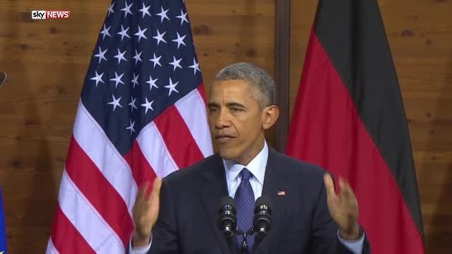 Barack Obama has made an impassioned plea for a united Europe at the G5 summit in Hannover, Germany. The US President said the world needs a strong Europe to maintain progress and deal with security concerns.