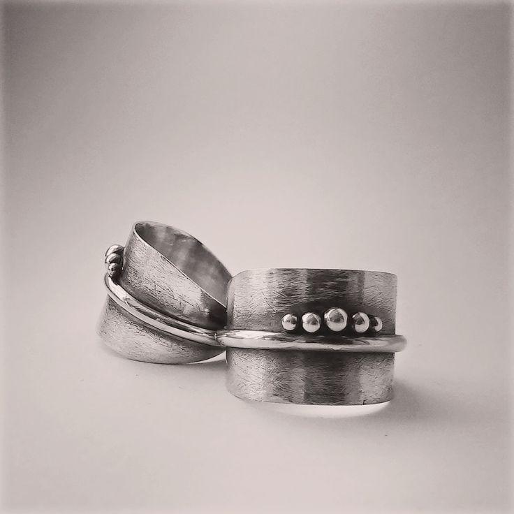 Puro silver rings