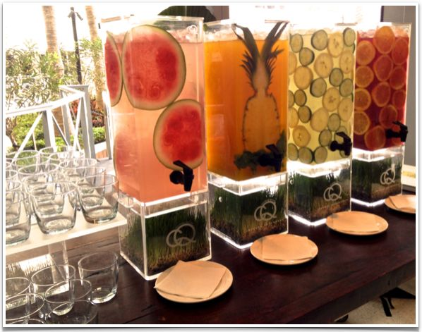 What a cool set-up - wouldn't you love to have this in your home? Eden Roc Miami Beach CQ Infused Waters.