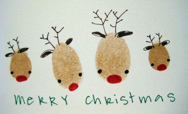 fingerprint reindeer card