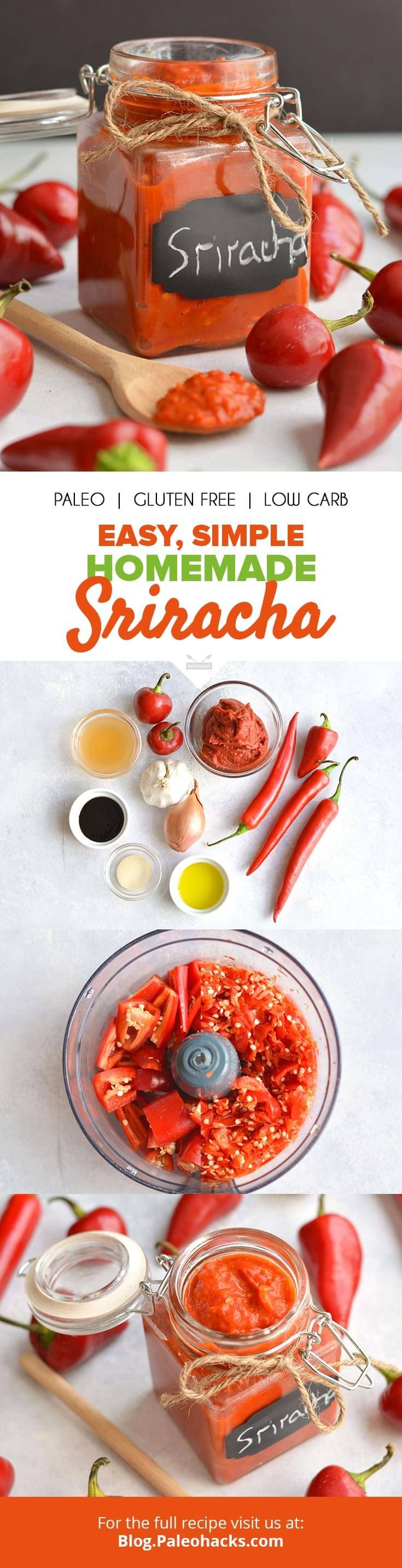 Heat up your next meal with this easy, homemade sriracha sauce recipe! Get the recipe here: http://paleo.co/sriracharcp