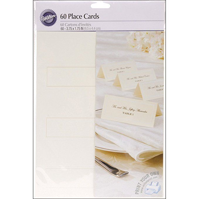Wilton 1008 661 Ivory Place Cards 60ct Place Card Template Place Card Holders Place Cards