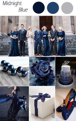 midnight blue winter wedding colors 2015 trends