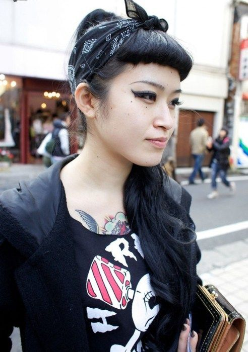 Bumper Bangs for a Rockabilly Back to School Hairstyle