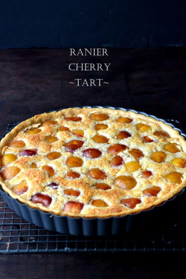 Joe-friendly desserts are always the best :-) Rainier Cherry Almond Tart - The View from Great Island