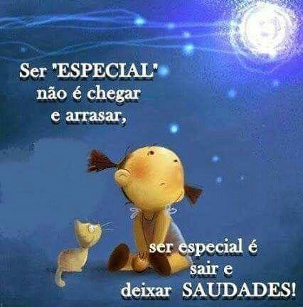Ser especial...