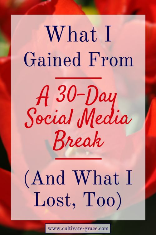 Taking a break from social media can be hard, especially for an entire month. I learned so much from taking a social media retreat, but I lost some things too. Click to learn about my experience...
