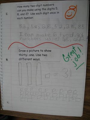 Math Journal Prompts for Second Grade--FREE 16 math journal prompts. adapt for first grade.                                                                                                                                                                                 More