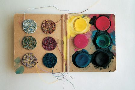 Anu Tuominen: Likaisia värejä 1, 2000, sekatekniikka