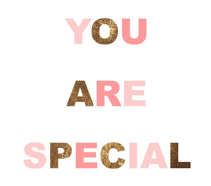 you are special – viesti ystävänpäiväksi