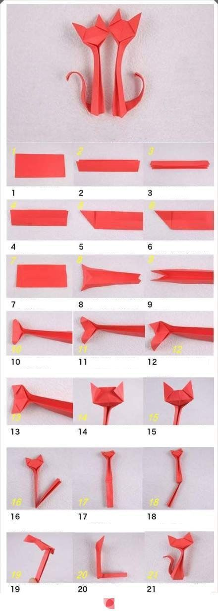 How to make cat origami