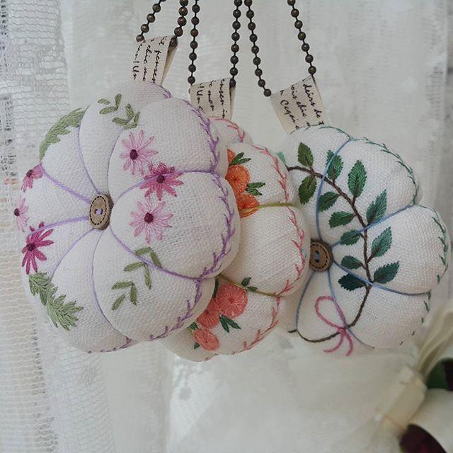 #handmade #embroidery #자수호박걸이