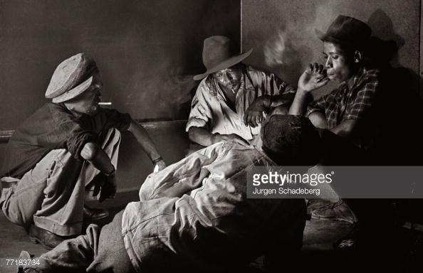 News Photo : Four gamblers in a smoky corner in Sophiatown, a...
