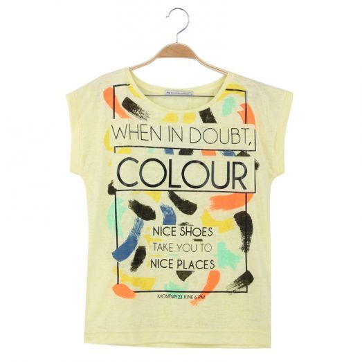 When in doubt, colour! #tshirt #colorful #cute #festivaloutfit #fun #white #fashion #forwomen #glostory
