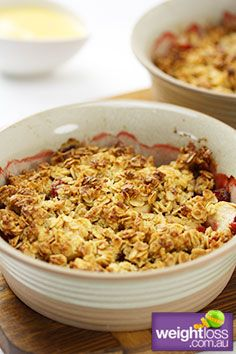 Low Sodium Recipes: Strawberry Crumble. #HealthyRecipes #DietRecipes #WeightlossRecipes weightloss.com.au