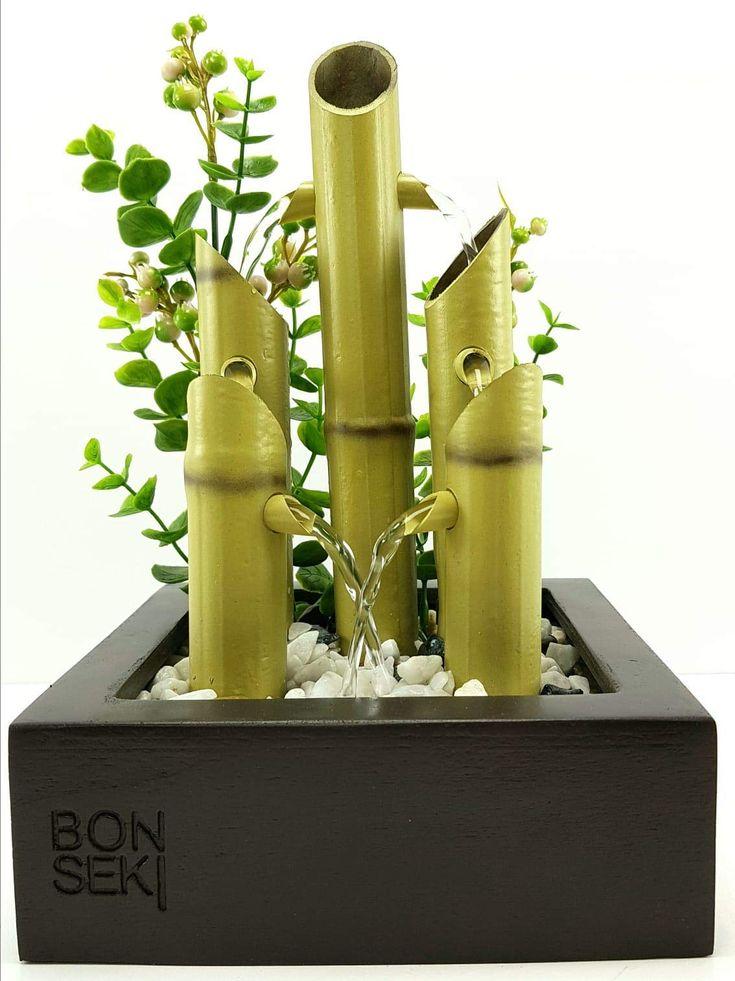Bonseki fontana zen da interno linea square artigianale - Giardini zen da interno ...