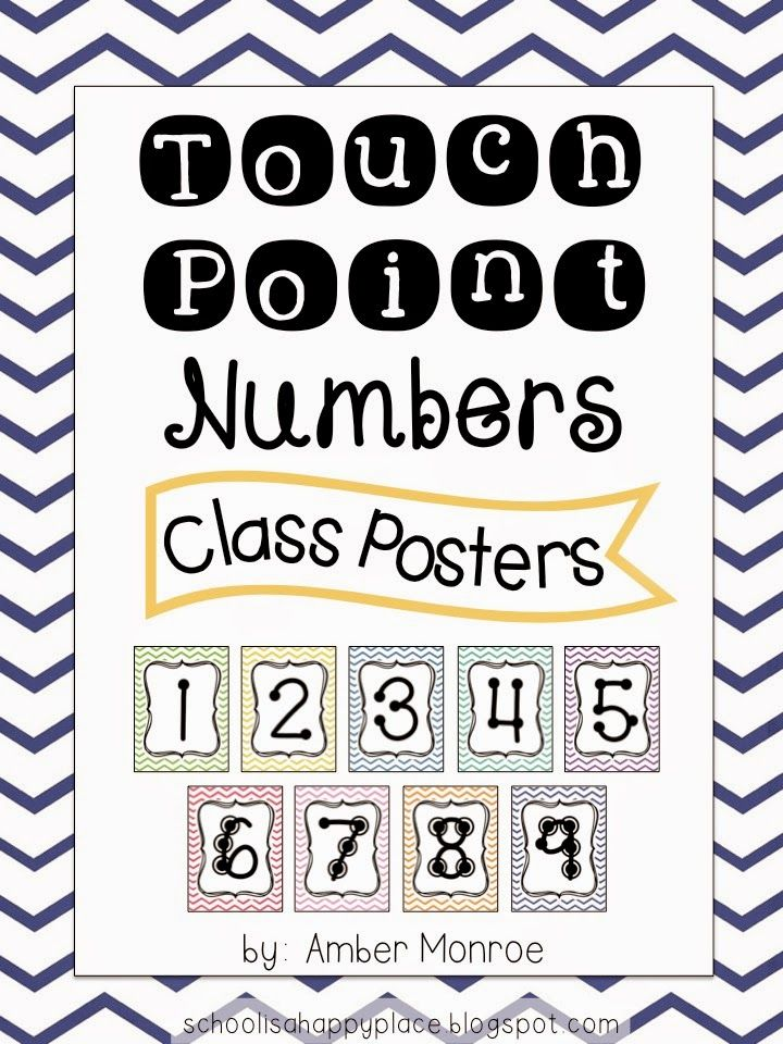 Touch Math and a FREE Set of Touch Point Number Posters