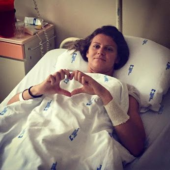 Lucie Safarova ´festeggia´ il best ranking in ospedale!