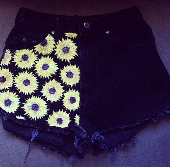 Black Sunflower Shorts