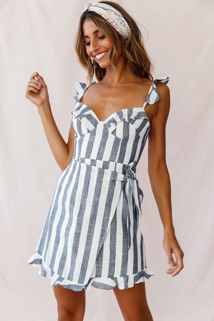 Lyla Sweetheart Neckline Wrap Dress Blue Womens Shift Dresses Blue Dresses Wrap Dress [ 1100 x 733 Pixel ]