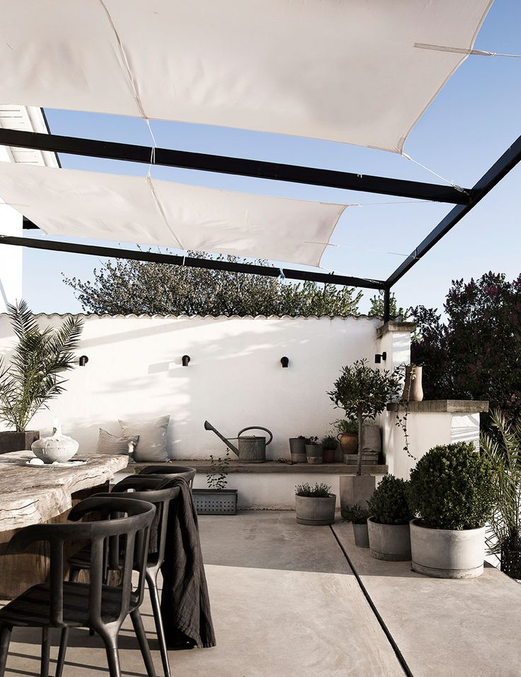Outdoor terrace at the home of Daniella Witte