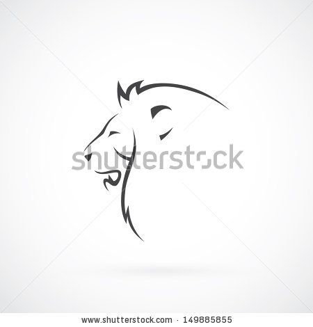 Lion head - vector illustration by Petrovic Igor, via ShutterStock
