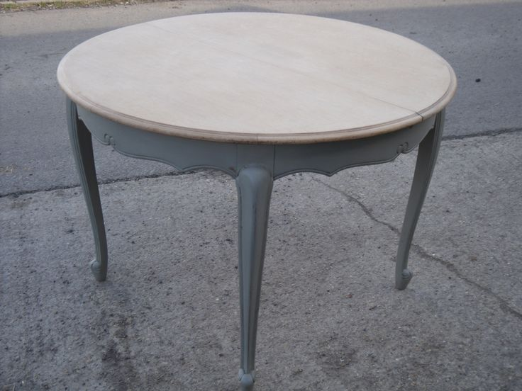 Vintage French Extending Round Table