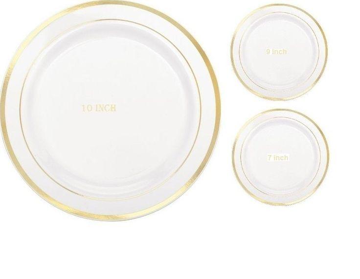 Wedding Party Dinner Disposable Plastic Dinnerware  sc 1 st  Pinterest & 690 best wedding disposable plates images on Pinterest | Backdrops ...