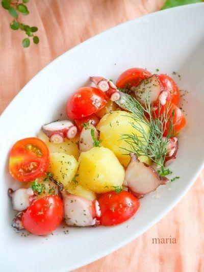 たこ、トマト、ポテトのサラダ*マスタードドレッシング by mariaさん ...