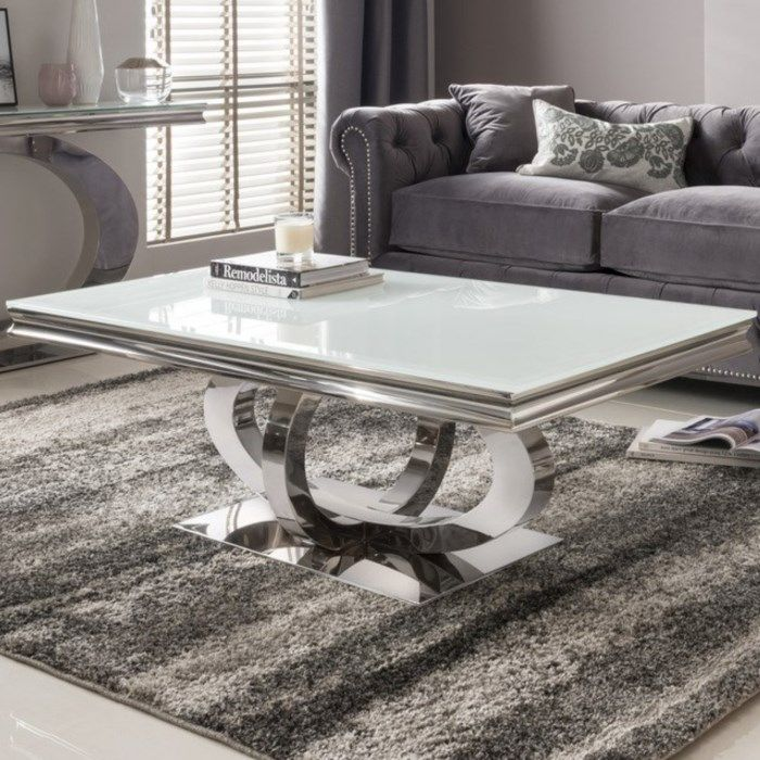 Imposing Glass Tables For Your Living Room Bocadolobo Interiordesigninspiration Luxury White Glass Coffee Table Coffee Table Living Room Modern Coffee Table