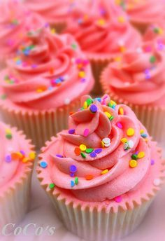 cupcakes with rainbow sprinkles - Google Search