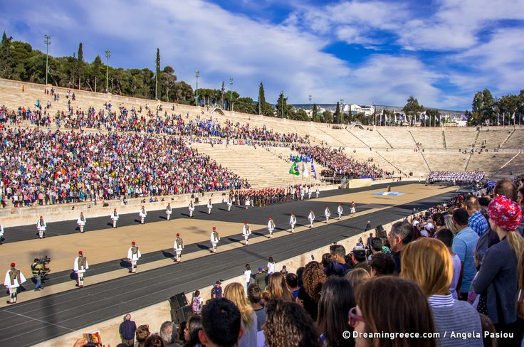 Handover Ceremony for the Olympic Flame at the Panathenaic Stadium Athens Greece. Photo by Evangelia Pasiou @evangelapasiou  #dreamingreece #travelguide #athens #ancientolympia #olympicflame #olympicgames #panathenaicstadium #rio2016 #greece