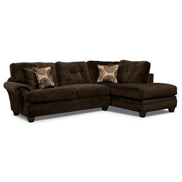 Inspirational American Signature Furniture Cordoba Chocolate II Upholstery Pc Sectional