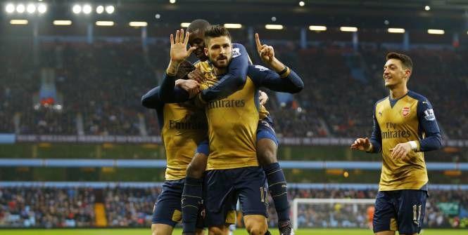 Foot - ANG - 16e j. - Arsenal enfonce Aston Villa et reprend la tête de la Premier League