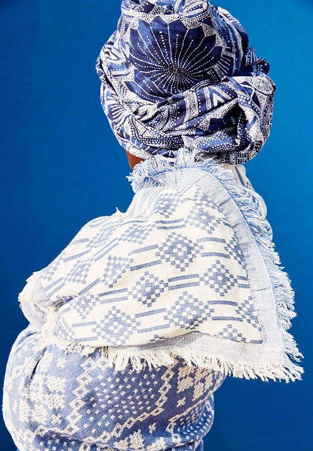 Navy pattern inspiration - scarfs by OYSHO
