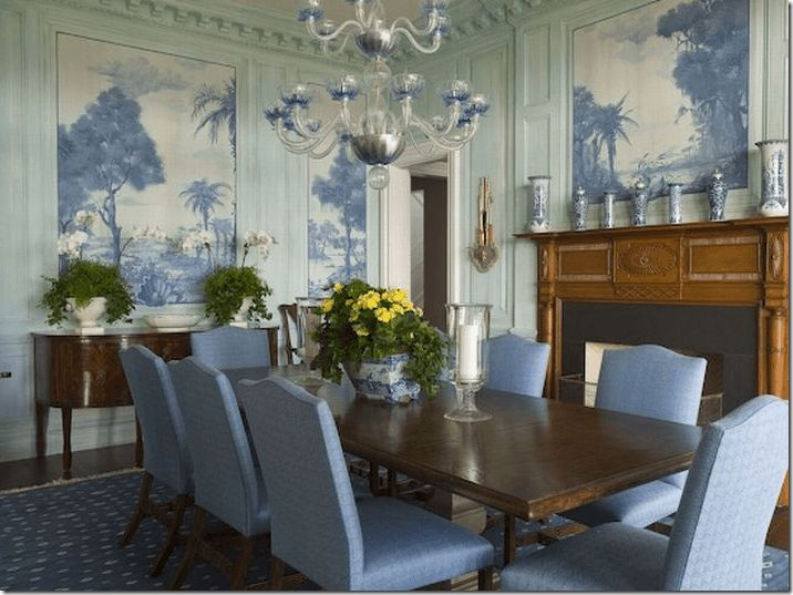 20 Great Fireplace Mantel Decorating Ideas Blue Dining RoomsBlue