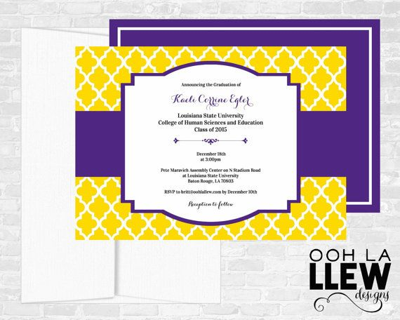 LSU Louisiana State University Graduation by OohLaLlew on Etsy
