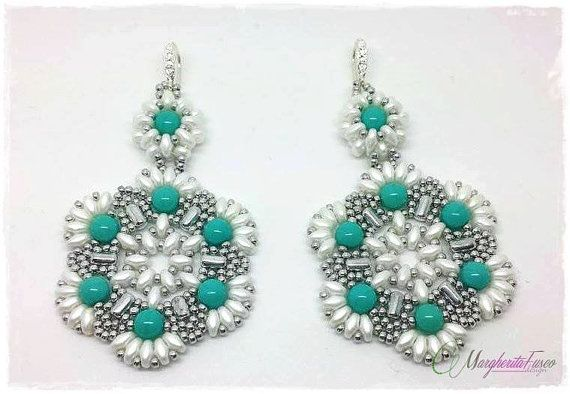 *P Tutorial. How to make Diva earrings with rulla and by 75marghe75, $8.00