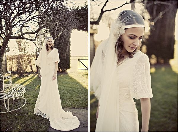 1920's bride.... absolutely love the veil!