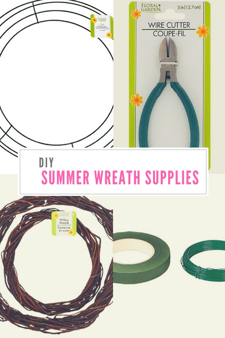 DIY Summer wreath supplies